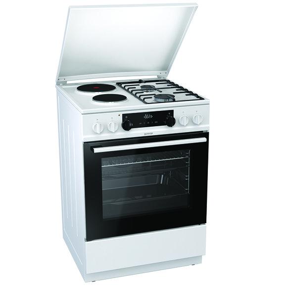 Готварска печка (ток/газ) Gorenje K6351WF , 2 газ 2ток , Бял